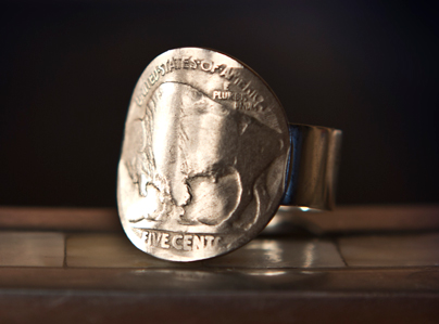 Buffalo Nickel (tails) Ring