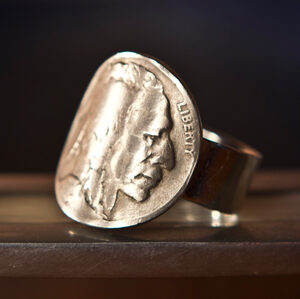 Buffalo Nickel (heads) Ring