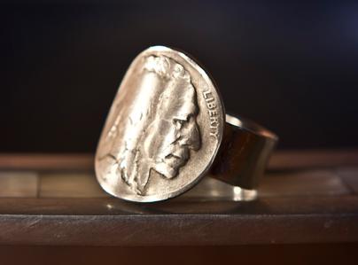 Buffalo Nickel (heads) Ring