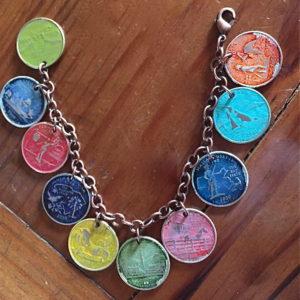 State Quarter Charm Bracelet