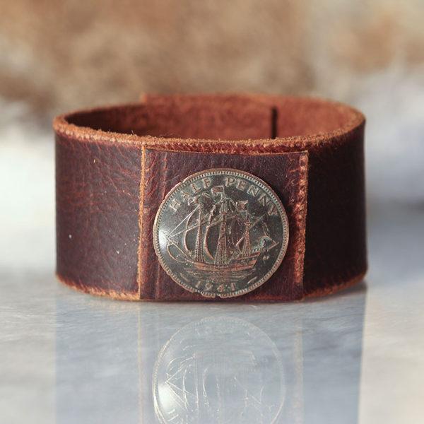Wide Single Coin Cuff