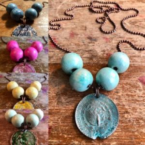 Bead And Ball Necklace