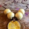 Bead and Ball Necklace Lemon