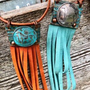 Horse Necklace w Fringe