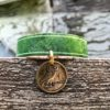 Owl cuff narrow green