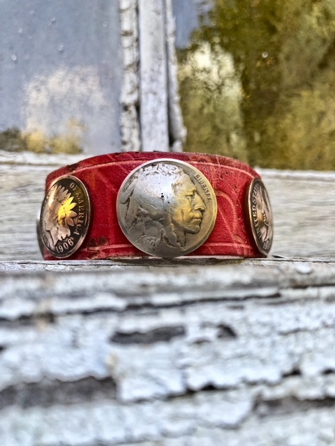 Buffalo Nickel & Penny Cuff