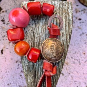 Toggle Bracelet Coral