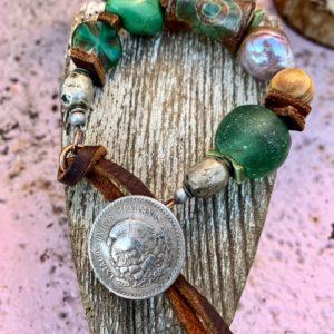 Toggle Bracelet Green:Brown