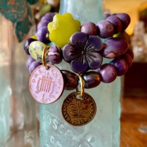 Stretch Bracelets Purple Stack